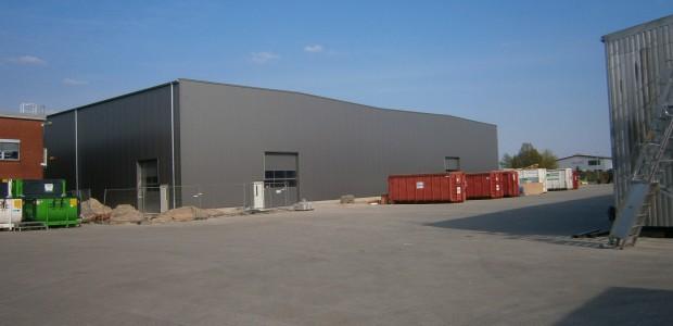 Bauarbeiten für die Firma Aljo schreiten voran