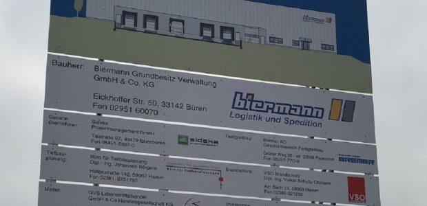 Neubau Logistikhalle Fa. Biermann