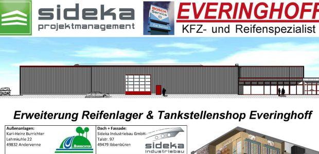 Erweiterung Reifenlager & Tankstellenshop Fa. Everinghoff