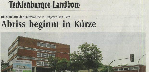 Zeitungsartikel Polizei Lengerich