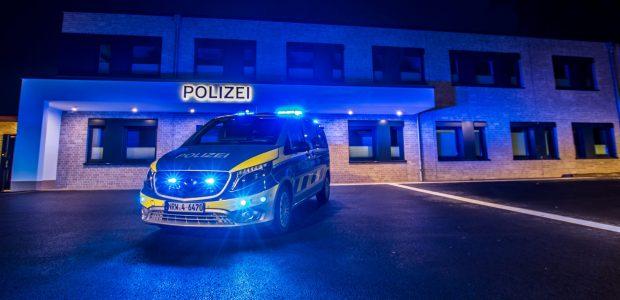 Polizei Ibbenbüren bei Nacht