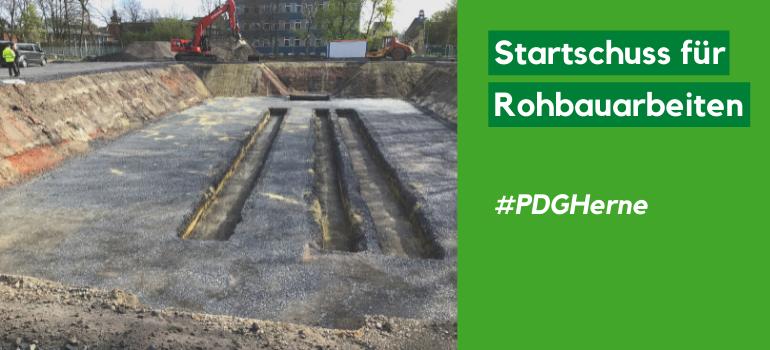 PDG Herne – Startschuss für Rohbauarbeiten